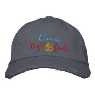 Clarrisa Name With English Meaning Blue Embroidered Baseball Caps
