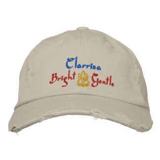 Clarrisa Name With English Meaning Stone Embroidered Baseball Cap