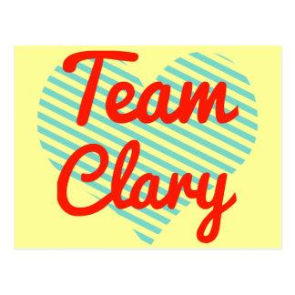 Clary del equipo tarjeta postal