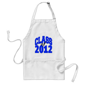 Clas of 2012 (blue) adult apron
