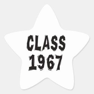 Clase 1967 pegatina en forma de estrella
