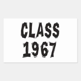 Clase 1967 pegatina rectangular
