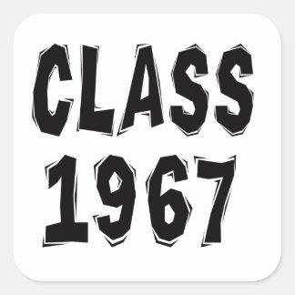 Clase 1967 pegatina cuadrada