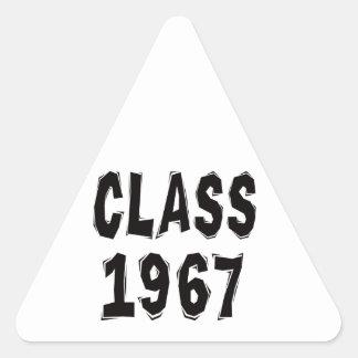 Clase 1967 pegatina triangular