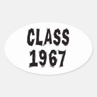 Clase 1967 pegatina ovalada