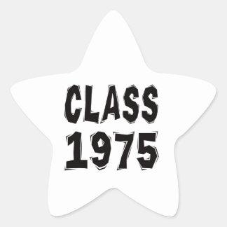 Clase 1975 calcomanía forma de estrella personalizada