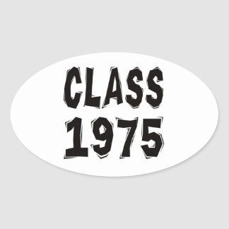 Clase 1975 calcomanías óvales
