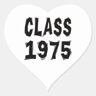 Clase 1975 pegatina de corazón