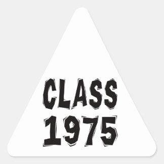 Clase 1975 calcomanía trianguloada