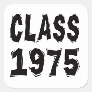 Clase 1975 calcomanías cuadradases