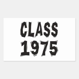 Clase 1975 rectangular pegatinas