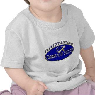 Clase 2009 del azul 2 camisetas