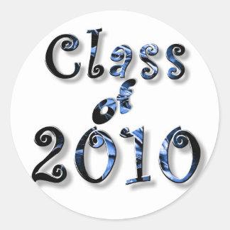 CLASE 2010 DE LA GRADUACIÓN DE 2010 PEGATINA REDONDA