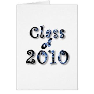 CLASE 2010 DE LA GRADUACIÓN DE 2010 TARJETA DE FELICITACIÓN