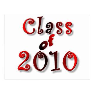 CLASE 2010 DE LA GRADUACIÓN DE 2010 TARJETAS POSTALES