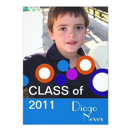 """Clase 2011 del retrato del graduado de la invitación 4.5"""" x 6.25"""""""