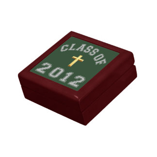 Clase 2012 de la cruz - gris 2 joyero cuadrado pequeño