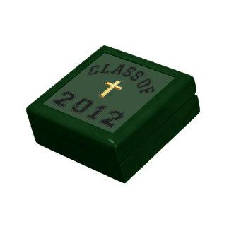 Clase 2012 de la cruz - negro 2 joyero cuadrado pequeño