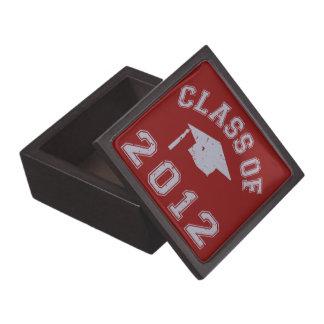 Clase 2012 de la graduación - gris caja de recuerdo de calidad