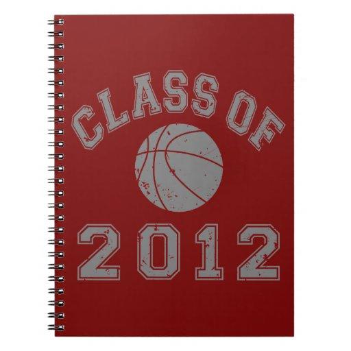 Clase 2012 del baloncesto - gris 2 note book