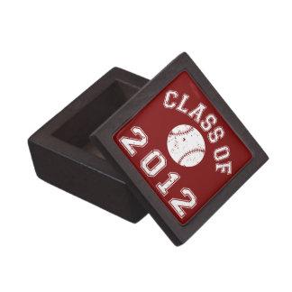 Clase 2012 del béisbol - blanco 2 caja de recuerdo de calidad