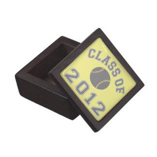 Clase 2012 del béisbol - gris cajas de recuerdo de calidad