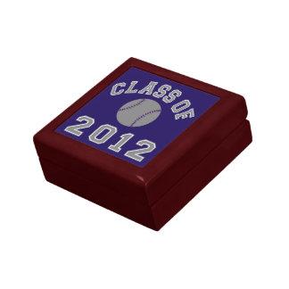 Clase 2012 del béisbol - gris joyero cuadrado pequeño