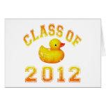 Clase 2012 del caucho Duckie - amarillo/naranja Tarjetas