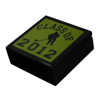 Clase 2012 del hockey - negro 2 joyero cuadrado grande