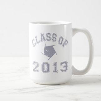 Clase 2013 de la fotografía - gris 2 taza clásica