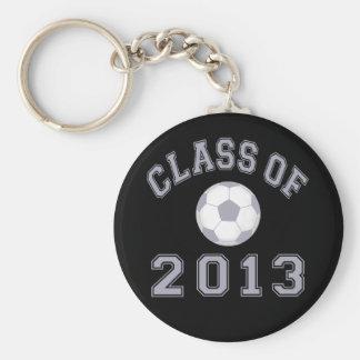 Clase 2013 del fútbol - gris 2 llaveros personalizados