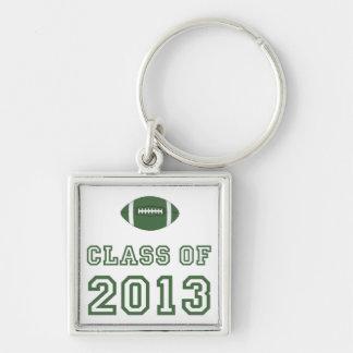 Clase 2013 del fútbol - verde 1 llavero personalizado