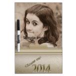 Clase 2014 de foto personalizada oro de la graduac tablero blanco
