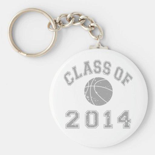 Clase 2014 del baloncesto - gris 2 llaveros