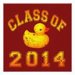 Clase 2014 del caucho Duckie - naranja Comunicado Personalizado