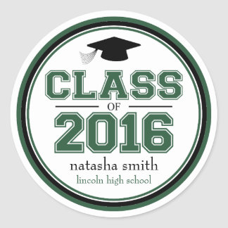 Clase 2016 de favor de la graduación pegatina redonda