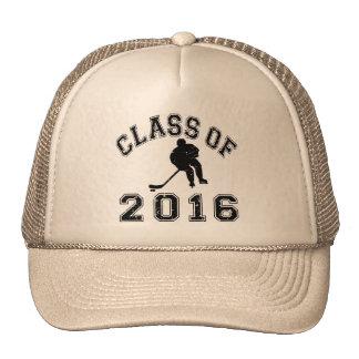 Clase 2016 del hockey - negro 2 gorro de camionero