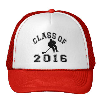Clase 2016 del hockey - negro 2 gorra