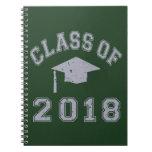 Clase 2018 de la graduación - gris cuaderno