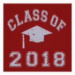 Clase 2018 de la graduación - gris invitación
