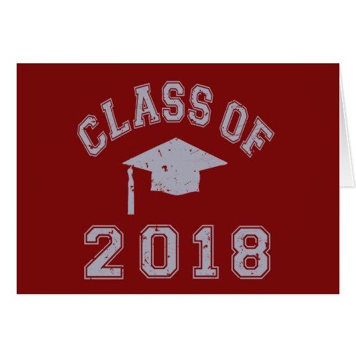 Clase 2018 de la graduación - gris tarjetón