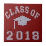 Clase 2018 de la graduación - gris teja  ceramica