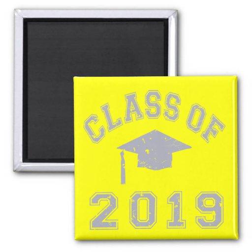 Clase 2019 de la graduación - gris iman de frigorífico
