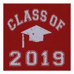 Clase 2019 de la graduación - gris comunicados personales