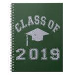 Clase 2019 de la graduación - gris libro de apuntes