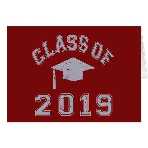 Clase 2019 de la graduación - gris tarjetón