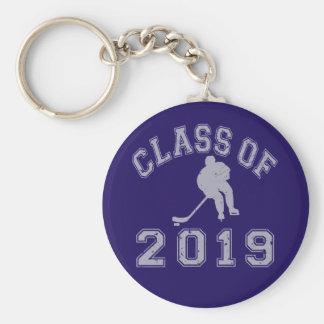 Clase 2019 del hockey - gris 2 llavero