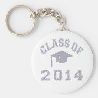 Clase 2020 de la graduación - gris llavero redondo tipo pin