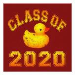 Clase 2020 del caucho Duckie - amarillo Invitación