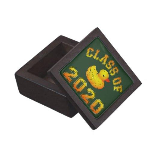 Clase 2020 del caucho Duckie - naranja Caja De Recuerdo De Calidad